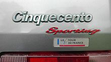 Cinquecento sporting Tour De France.jpg