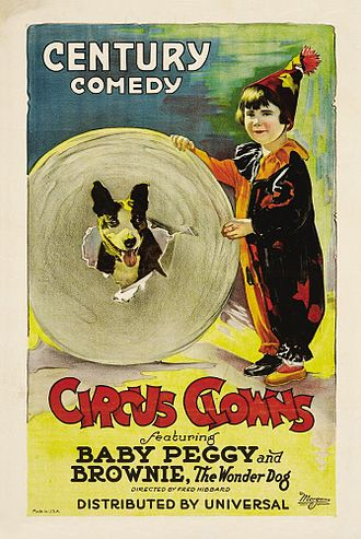 Diana Serra Cary - Poster for Circus Clowns, directed by Fred Fishback (1922)