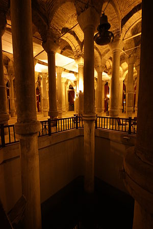 Cistern of Philoxenos - Cistern of Philoxenos: an excavated pool showing the original height of the double columns
