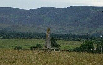 Clach Biorach - A distance photograph of Clach Biorach taken in July 2006.
