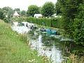 Clairmarais (Pas-de-Calais, Fr) Canal longeant le Chemin du Grand Saint-Bernard.JPG