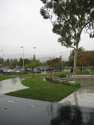 Claremont High School (California) - Image: Claremont High Rain