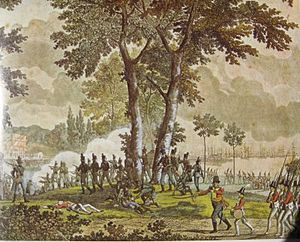 1807 in Denmark - The assault at Classens Have on 31 August 1807.