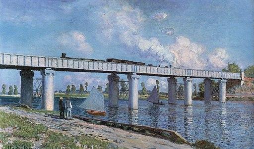 Claude Monet - Le pont de chemin der fer à Argenteuil