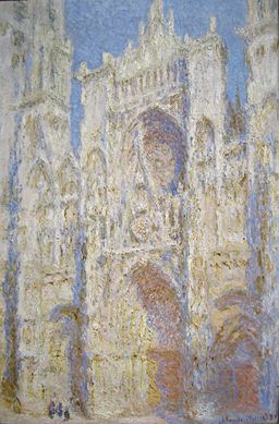 Claude Monet - Rouen Cathedral, West Facade, Sunlight