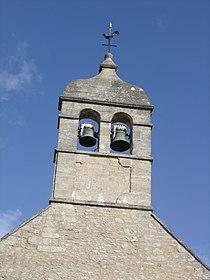 Clocher de l'église de Cresserons.JPG
