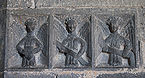 Clonfert Cathedral Chancel Arch Southern Pier Three Angels 2009 09 17.jpg