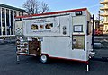 Closed mobile kitchen catering trailer (matvogn) selling Thai food in Torget square in Leirvik, Stord, Norway 2018-03-10.jpg