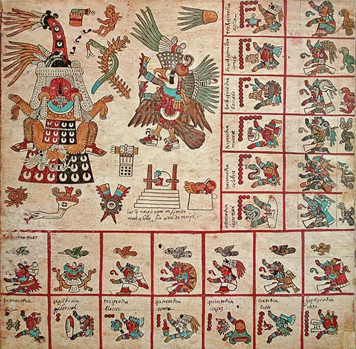 Codex Borbonicus, p11 trecena13