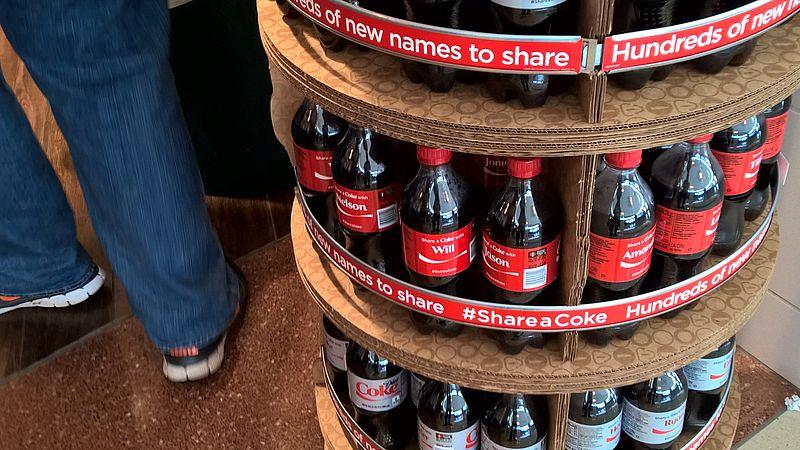 File:Coke bottles with names.jpg