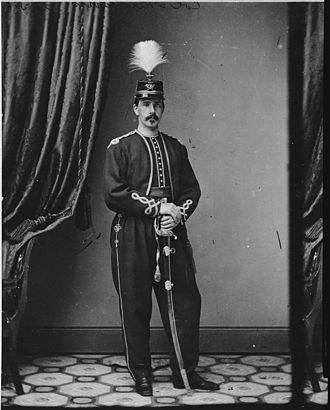 9th New York Volunteer Infantry Regiment - Col. Rush Hawkins in the 9th Hawkins Zouaves uniform