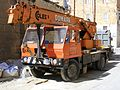 "Coles Mobile Crane, ""Time is Money"", Vittorioso, Malta Feb 2011 - Flickr - sludgegulper.jpg"