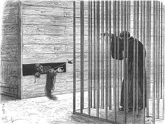 Eugène Collache - Collache in prison, in Edo.