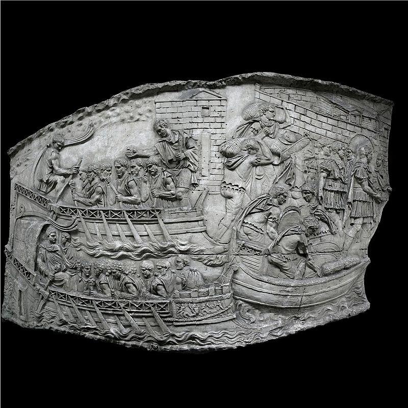 Photo d'un relief de la Colonne Trajane.