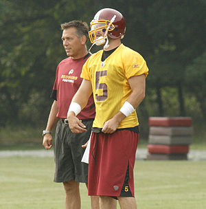 Colt Brennan - Brennan with coach Jim Zorn