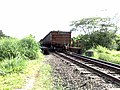 Comboio que passava sentido Boa Vista na ponte sobre o Ribeirão Piraí no limite dos municípios de Salto e Indaiatuba - Variante Boa Vista-Guaianã km 212 - panoramio.jpg