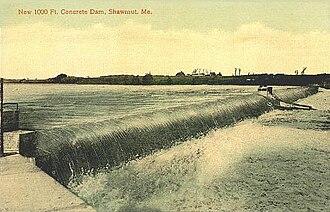 Fairfield, Maine - Image: Concrete Dam, Shawmut, ME
