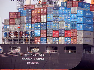 Intermodal container - Making containers stackable made loading and transport on large ships feasible and efficient