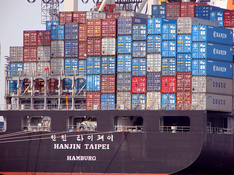 File:Container ship Hanjin Taipei.jpg