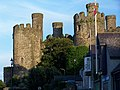 Conwy Castle and houses on riverside - geograph.org.uk - 1581015.jpg