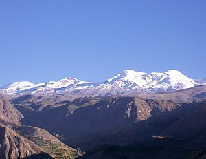 Castilla Province - Coropuna as seen from Tipan