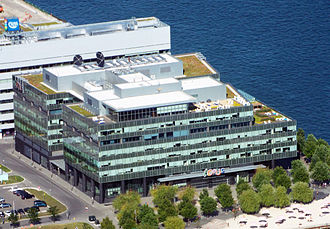 Corus Entertainment - Corus Quay in Toronto as seen from the CN Tower