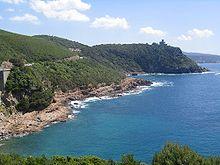La costa tra Livorno e Quercianella.