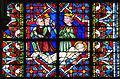 Coutances Cathédrale Notre-Dame Vitrail Baie 217 Lancette centrale 6e registre - saint Georges est trainé par le pieds 2014 08 25.jpg
