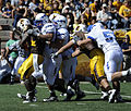 Cowboys on offense at Air Force at Wyoming 2010-09-25.JPG