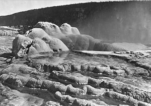 Old Faithful - Image: Craterof Old Faithful 1872
