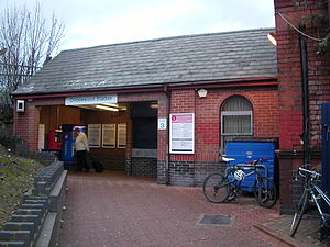 Cricklewood railway station - Exterior of main station building at Cricklewood