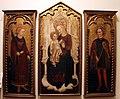 Cristoforo moretti, trittico con madonna in trono e i santi genesio e lorenzo, 1460 ca..JPG