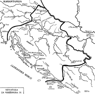 History of Istria - Eastern part of Istria included in the Kingdom of Croatia (925–1102) during the reign of king Petar Krešimir IV