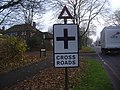 Crossroads sign Belmont Hill - geograph.org.uk - 1080619.jpg