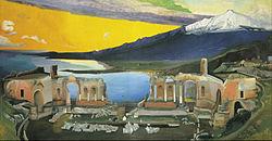 Csontváry Kosztka, Tivadar - Ruins of the Greek Theatre at Taormina - Google Art Project.jpg