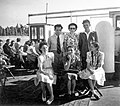 Csoportkép, 1947-ben a Körös gőzös fedélzetén. Fortepan 22532.jpg