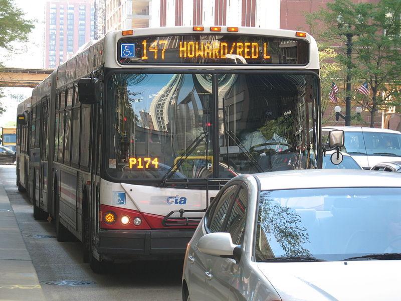 Pegar ônibus no aeroporto de Chicaago