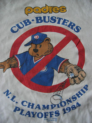 1984 San Diego Padres season - Cub-Busters T-shirts were popular with Padres fans.