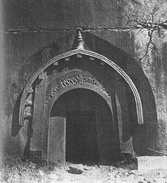 Mauryan art - Mauryan architecture in the Barabar Mounts. Grottoe of Lomas Rishi. 3rd century BCE.
