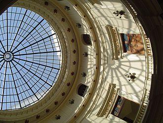 Skylight - Skylight in rotunda of Centro Cultural Banco do Brasil center in Rio de Janeiro.