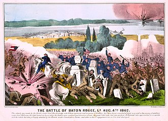 Battle of Baton Rouge (1862) - Image: Currier & Ives The Battle of Baton Rouge, La. Aug. 4th 1862