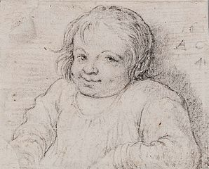 Bust of a child.