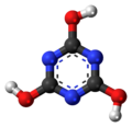 Cyanuric acid (triol) 3D ball.png