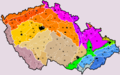 Czech Republic geomorphological division map level3 colour level4 number.png