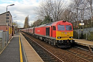 DB Schenker - A DB Schenker UK Class 60 locomotive at Whiston, England