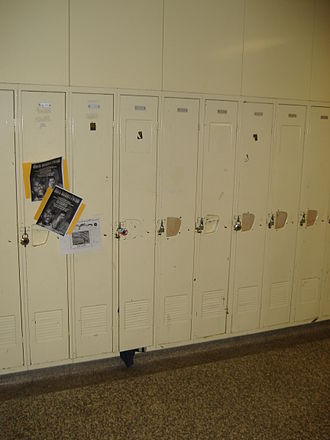 David and Mary Thomson Collegiate Institute - Lockers in the 140s hallway
