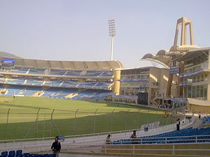 "Pune Warriors India - DY Patil Stadium, the initial ""home"" ground of Pune Warriors India"