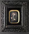 Daguerreotypier, 2 st. Porträtt av herre och dam, okända medlemmar av släkten Bergström - Nordiska Museet - NMA.0054088 3.jpg