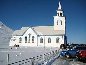 Dalvík - Dalvík Church in March 2008