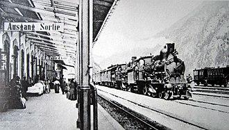 Economy of Switzerland - Gotthard line in 1882